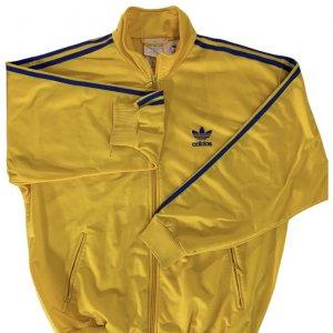 ז'קט ספורט צהוב וינטג לגבר פסים כחולים 3