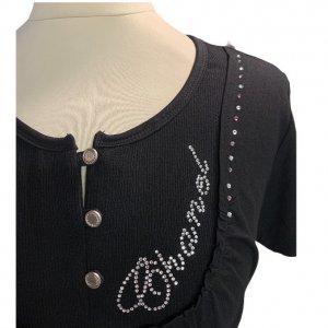 חולצת כותנה שחורה 3