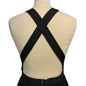שמלת משי שחורה מקסי 3