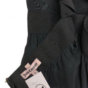 שמלת משי שחורה מקסי 5