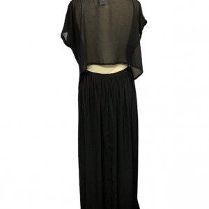 שמלה ארוכה עם שרוולים קצרים ופתח בגב 2