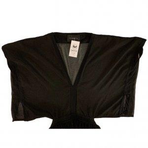 שמלה ארוכה עם שרוולים קצרים ופתח בגב 5