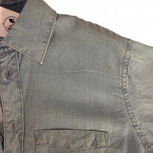 חולצה ארוכה מכופתרת בצבע ג׳ינס 3