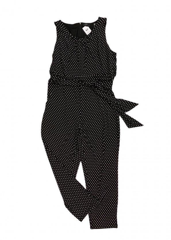 אוברול שחור נקודות לבנות 1