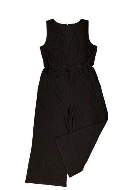 חולצה ארוכה מכופתרת שחורה מבד שקוף 2