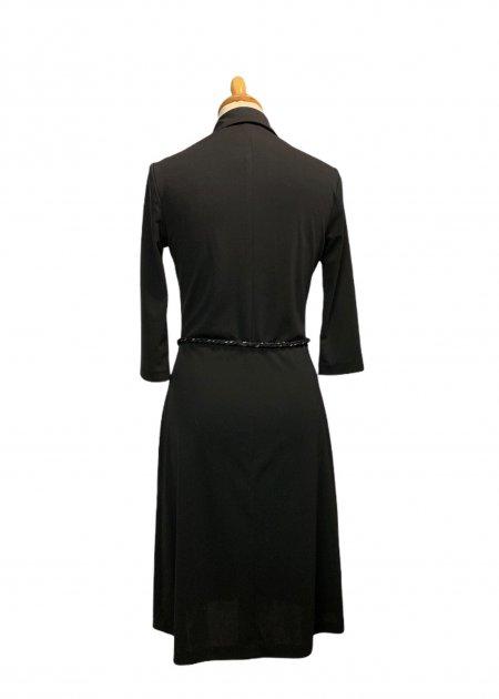 חולצה ארוכה מכופתרת שחורה מבד שקוף 8