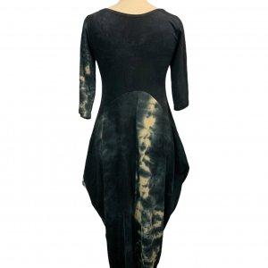 שמלת טריקו טיי דיי אפורה כיסים 2