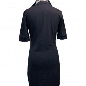 שמלה שרוול קצר כחול כהה עם פס בורדו adidas 2