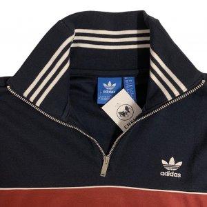 שמלה שרוול קצר כחול כהה עם פס בורדו adidas 4