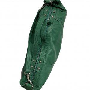 תיק עור ירוק גדול 5