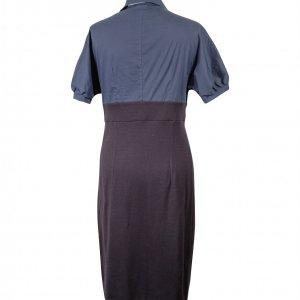 שמלה שחור כחול כפתורים וולנים 2