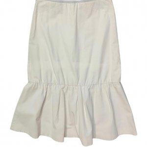 חצאית ארוכה בד ג׳ינס לבנה - COS 2