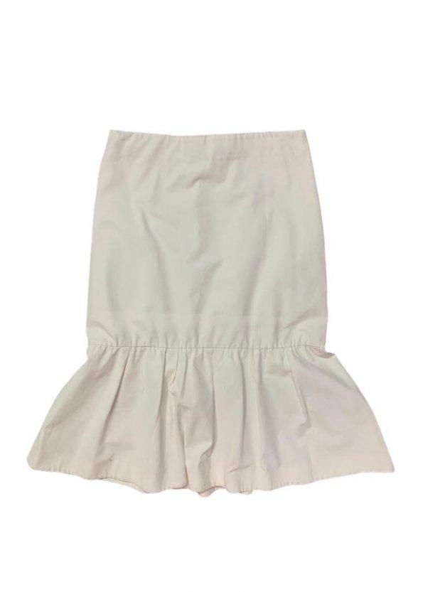 חצאית ארוכה בד ג׳ינס לבנה - COS 1