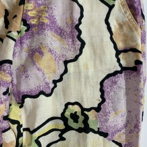 מכנסי פשתן רחבים מפשתן בדוגמת פרחים מבית ROBERTO CAVALLI 3