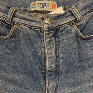 ג׳ינס baggy וינטג׳ עם רוכסנים בקרסוליים 3