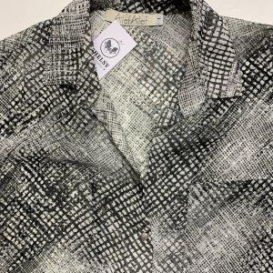 חולצה מכופתרת שיפון אפורה - Alef Alef 3