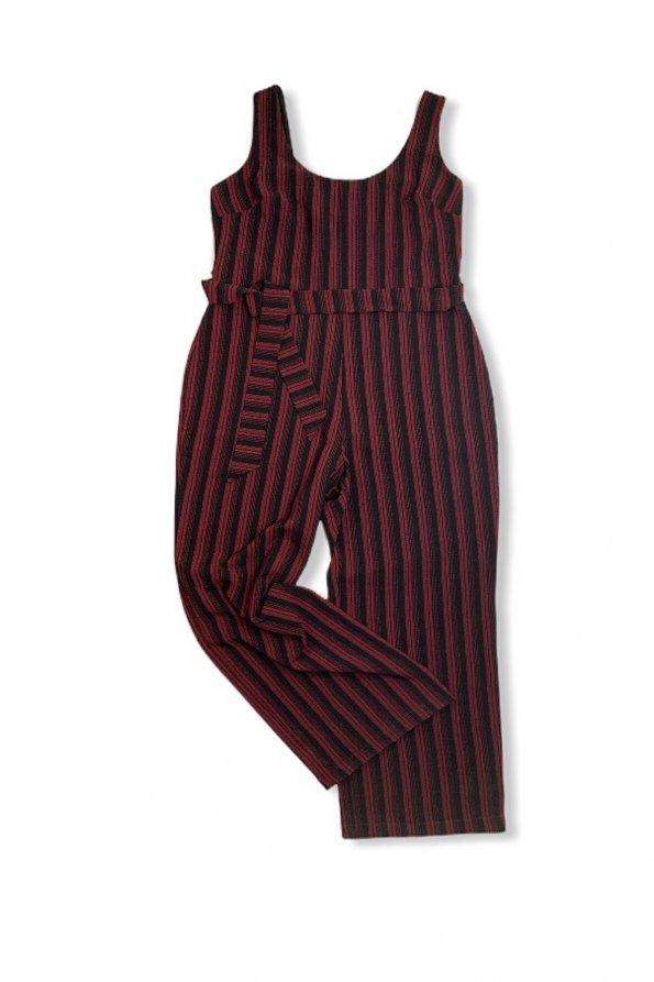 סרבל פסים שחור ואדום מ Karl Lagerfeld 1