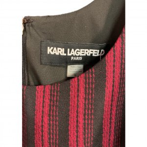 סרבל פסים שחור ואדום מ Karl Lagerfeld 4