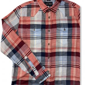 חולצה מכופתרת כחול אדום - Armani Jeans 3