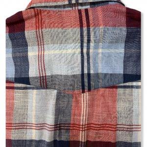 חולצה מכופתרת כחול אדום - Armani Jeans 5