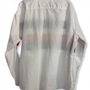 חולצה מכופצתרת לבנה עם פסים כחול אדום - Tommy Hilfiger 2