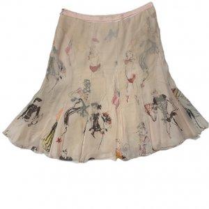 חצאית משי MOSCHINO בצבע ורוד 2