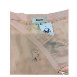 חצאית משי MOSCHINO בצבע ורוד 3