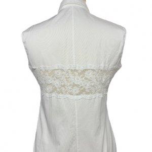חולצה לבנה מכופתרת עם תחרה - Valentino 2