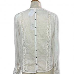 חולצת בוהו עם תוספות תחרה וסרוגה ושרוולים ארוכים - Free People 2