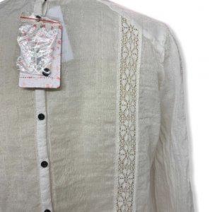 חולצת בוהו עם תוספות תחרה וסרוגה ושרוולים ארוכים - Free People 3