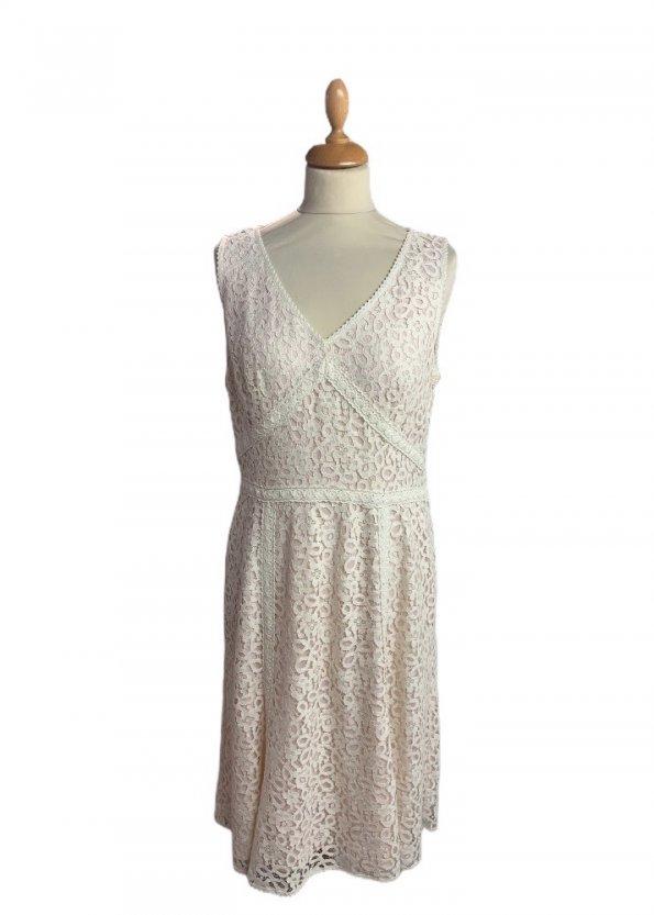 שמלה תחרה לבנה - Ann Taylor 1