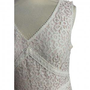 שמלה תחרה לבנה - Ann Taylor 4
