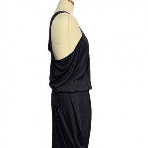 שמלהכתף אחת, סגול כהה כיווץ בחזה ובמותן שסע בצד EMPEORIO ARMANI 3