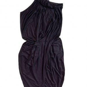 שמלהכתף אחת, סגול כהה כיווץ בחזה ובמותן שסע בצד EMPEORIO ARMANI 5