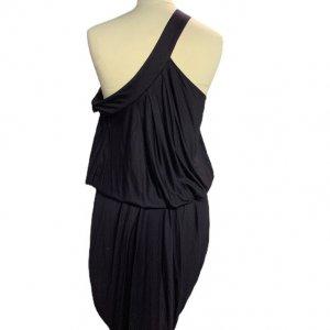 שמלהכתף אחת, סגול כהה כיווץ בחזה ובמותן שסע בצד EMPEORIO ARMANI 2