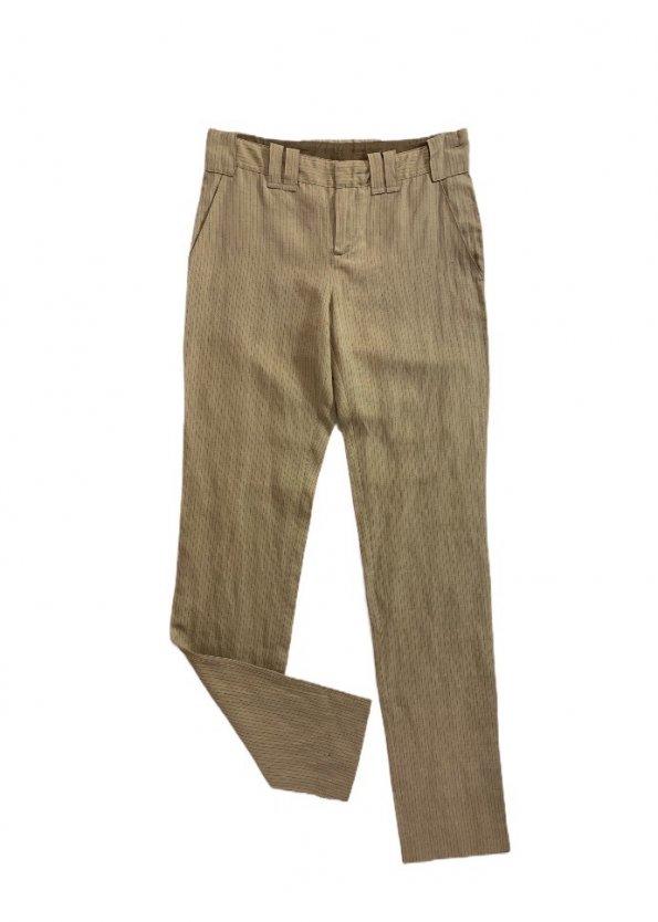 מכנס מחויט חום עם פסים דקים מבית Jean PAul Gaultier 1