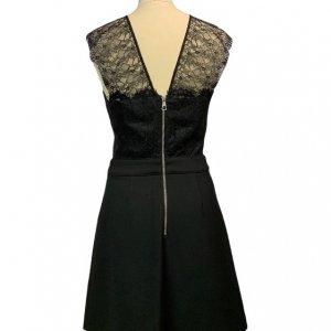 שמלה שחורה עם תחרה בחלק העליון - SET 2
