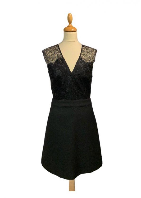 שמלה שחורה עם תחרה בחלק העליון - SET 1