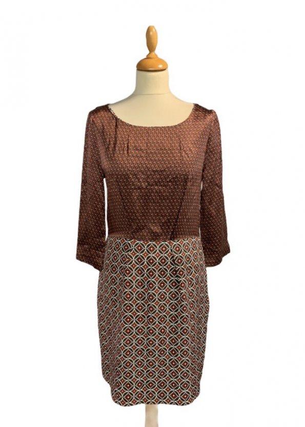 שמלת סטאן בורדו צורות - Tommy Hilfiger 1
