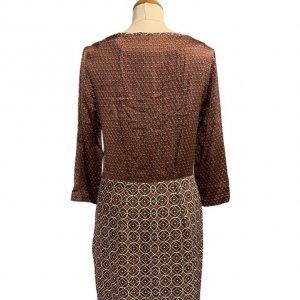 שמלת סטאן בורדו צורות - Tommy Hilfiger 2