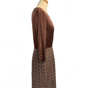 שמלת סטאן בורדו צורות - Tommy Hilfiger 3