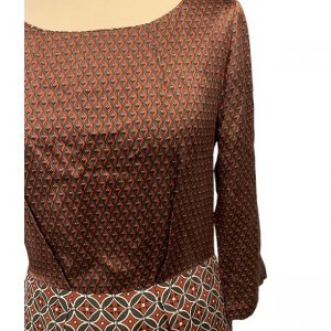 שמלת סטאן בורדו צורות - Tommy Hilfiger 4