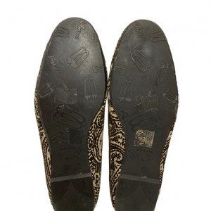 נעלי בובה קטיפה בז, חום בדוגמת פייזלי - Pretty Ballerinas 4
