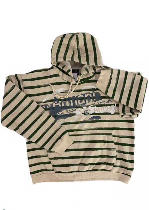 קפוצ'ון עם פסים ירוקים - Armani Jeans 1