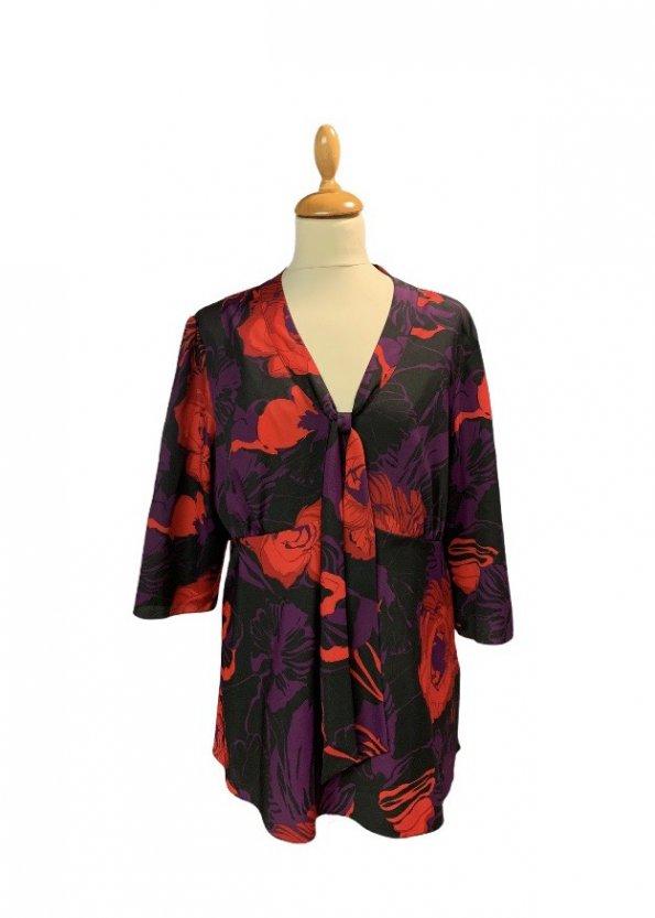חולצה פרחונית עם שרוול ארוך של Calvin Klein 1