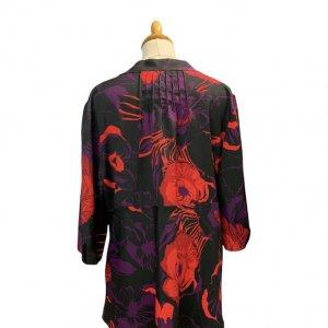 חולצה פרחונית עם שרוול ארוך של Calvin Klein 2