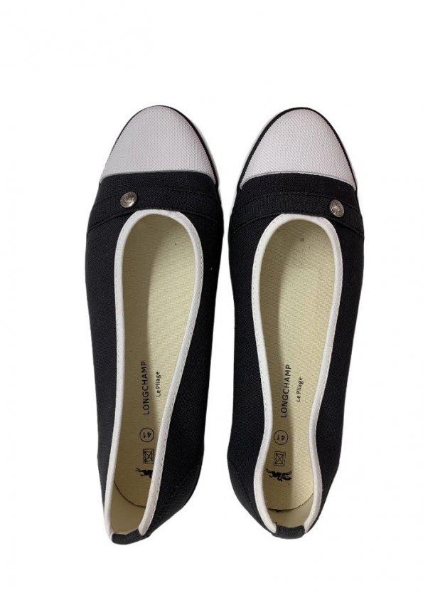 נעל בובה שחורה מבית LONGCHAMP 1