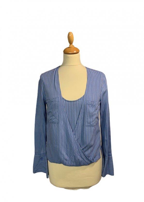 חולצה כחולה פסים - BCBG 1