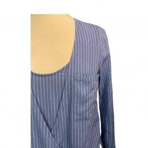 חולצה כחולה פסים - BCBG 4
