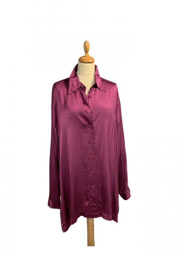 חולצת פוקסיה מכופתרת ארוכה 1